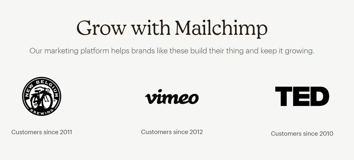 Mailchimp Client Logos